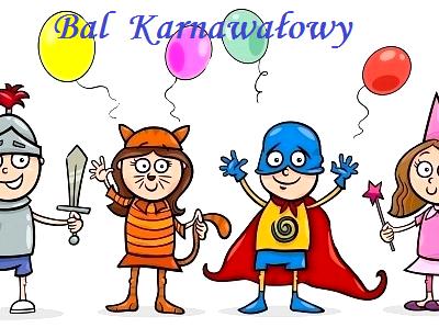 Zapraszamy dzieci na Bal Karnawałowy