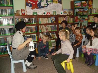 Betlejemskie Światło Pokoju w Klubie Małego Czytelnika
